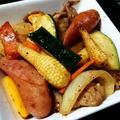 ズッキーニと夏野菜の炒め物、油で栄養吸収力アップ!