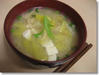 白菜味噌汁