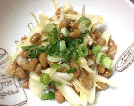 生らっきょうと納豆で、簡単旨レシピ