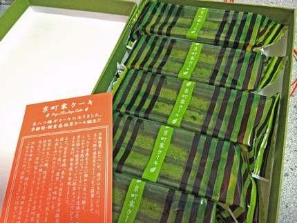 京町屋ケーキ、抹茶の生八つ橋ケーキ