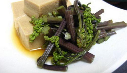 高野豆腐と ワラビの煮物