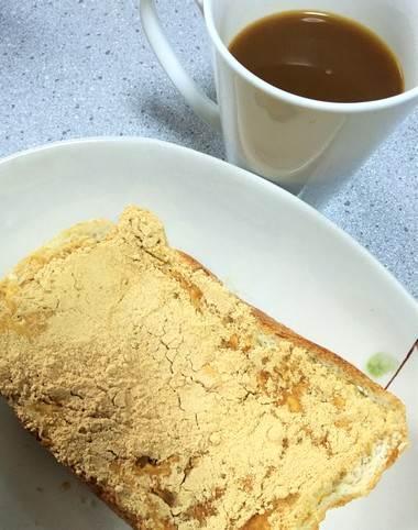 きな粉が余ったら、きなこパン!