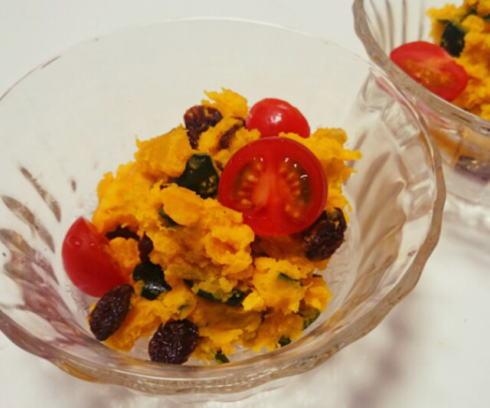 かぼちゃサラダ、クリームチーズ入り10分の濃厚レシピ